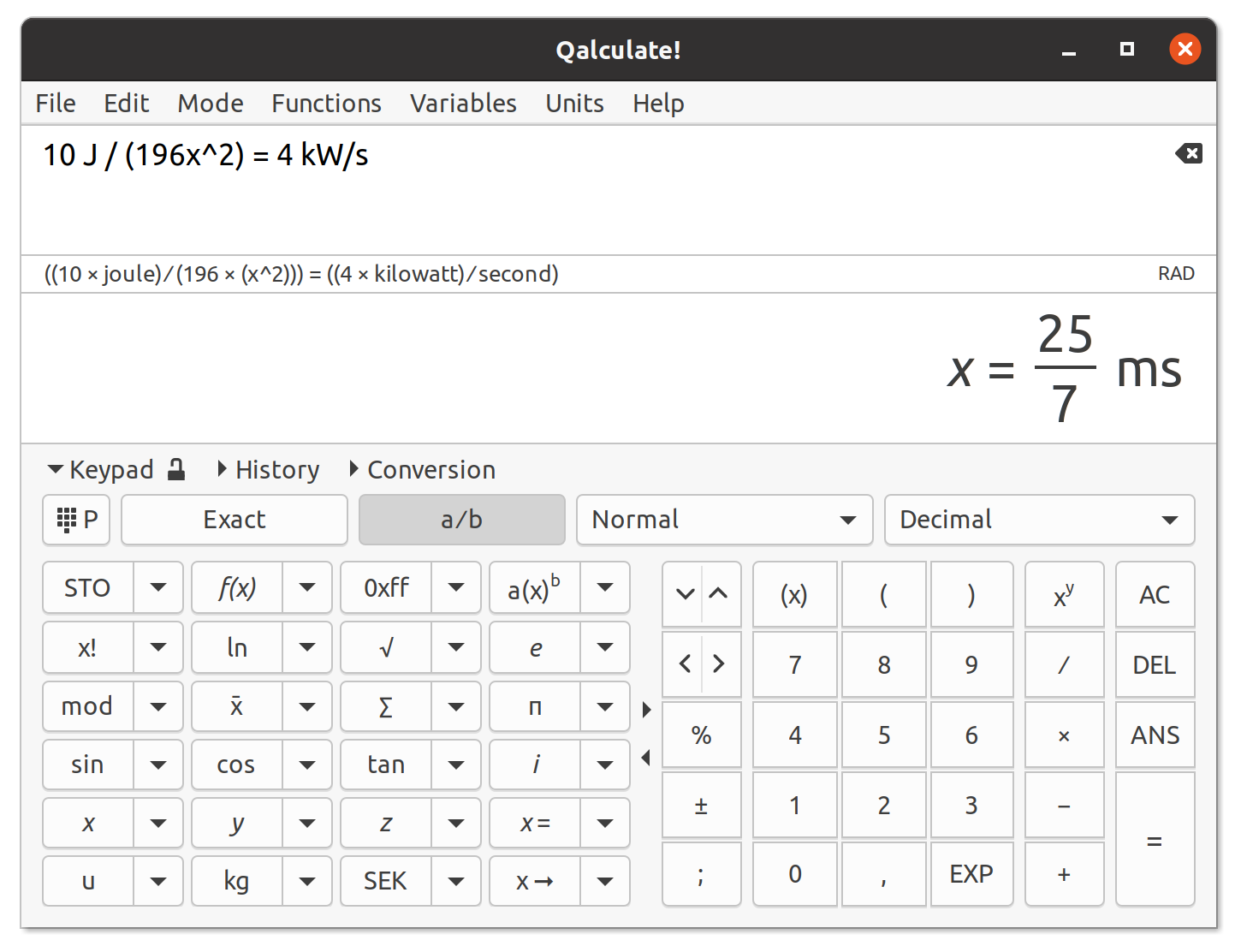 Qalculate! - the ultimate desktop calculator